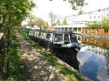 Paddington, narrowboat on Paddington Arm, Grand Union Canal, London © David Hawgood